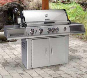 Freestanding barbecue repair by BBQ Repair Florida.