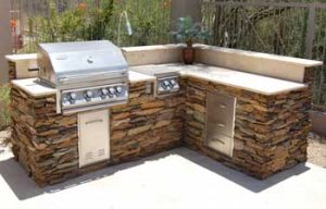 Built in BBQ repair by BBQ Repair Florida.