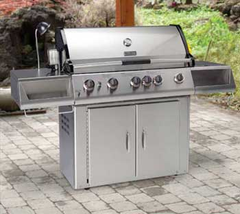 Freestanding barbecue repair by BBQ Repair Florida.