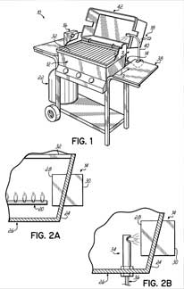 Drawing of barbecue grill.