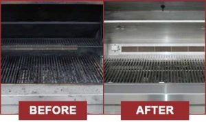 What your grill is going to look before and after we are done with it.