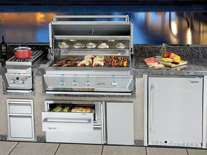 Allegra 32 Stainless Steel Grill On Cart With Rotisserie Aht Al32fr C